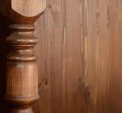 Balaustre de madera Foto de archivo libre de regalías