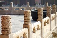 Balaustre di marmo Fotografie Stock