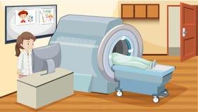 Balayage d'IRM à l'hôpital illustration libre de droits