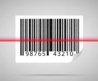 Balayage de code barres Photographie stock libre de droits