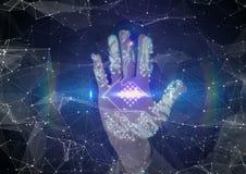 balayage de main de circuit Image libre de droits