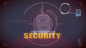 Balayage de sécurité illustration libre de droits
