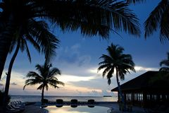 Balayage et océan Images libres de droits