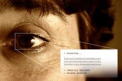 Balayage et texte d'iris Images stock