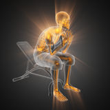 Balayage humain de radiographie dans la chambre de gymnastique Photo libre de droits
