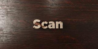 Balayage - titre en bois sale sur l'érable - image courante gratuite de redevance rendue par 3D illustration libre de droits