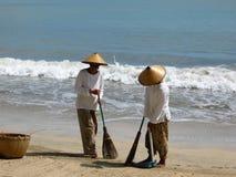 Balayeuses sur Bali Images libres de droits