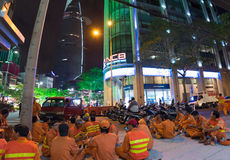 Balayeuses vietnamiennes avant travail Images libres de droits