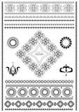 Balayez l'ornamentspour le bordersde décorationsur un fond blanc Photographie stock