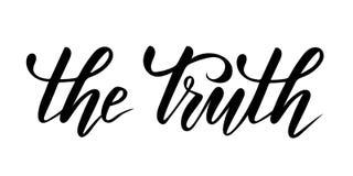 Balayez la calligraphie la vérité illustration stock