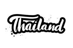 Balayez marquer avec des lettres la Thaïlande illustration libre de droits