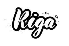 Balayez marquer avec des lettres Riga illustration libre de droits