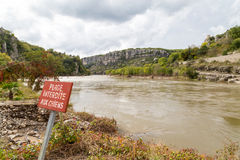 Balazuc village in the Ardeche river Royalty Free Stock Image