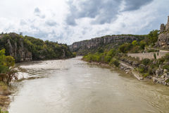 Balazuc village in the Ardeche river Royalty Free Stock Photo