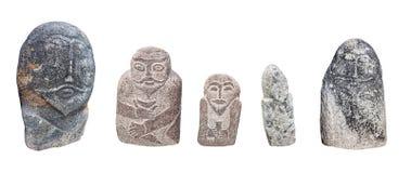Balbal-Statuen auf Weiß Stockbilder
