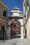 Balbi arch in Rovinj,Croatia. Balbi arch and narrow alley in Rovinj Royalty Free Stock Photography