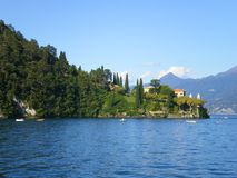 Balbianello Bellagio on lake como italy stock photo