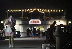 BALBOA, CA - cais do balboa e de ` s do rubi jantar imagens de stock