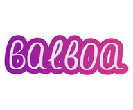 Balboa de la danza stock de ilustración