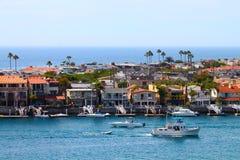 Balboa-Halbinsel-Häuser Stockfoto