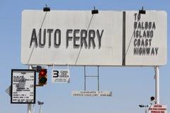 Balboa Island Ferry-sign Royalty Free Stock Photography