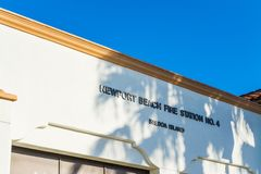 Balboa island fire station on a clear day royalty free stock photography