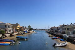 Balboa Island, New Port Beach, California Royalty Free Stock Photos