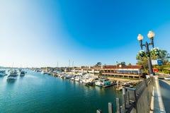 Balboa island in Newport Beach. California Royalty Free Stock Photo