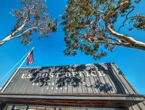 Balboa Island post office on a sunny day. California stock image