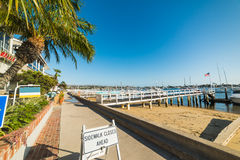 Balboa island seafront. In California royalty free stock photo