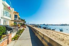 Balboa island seafront. In California Stock Photos