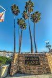 Balboa Island welcoming sign. Newport Beach, CA, USA - November 02, 2016: Balboa Island welcoming sign stock photography