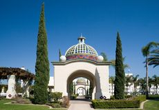 Balboa Park. One of the gorgeous building at San Diego's Balboa Park stock image