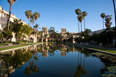Balboa Park. The reflective pool at Balboa Park in San Diego royalty free stock images