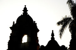 Balboa Park Architecture. Silhouete of a Spanish style building in Balboa Park in San Diego, California, United States of America. Balboa Park is one of the Stock Image