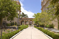 Balboa park architecture and garden California. Balboa park architecture garden and pathways San Diego California Stock Photo