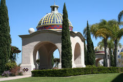 Balboa Park domed portico Stock Images