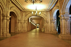 Balboa Park - Hallway. I took this photo at Balboa Park in San Diego, California. I liked the architecture and the lighting and thought it would make a great Royalty Free Stock Photos