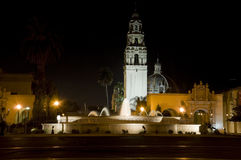 Balboa Park at Night Stock Images