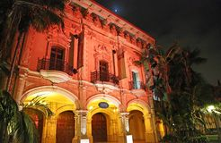 Casa de Balboa in the night illumination royalty free stock images