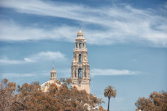 Balboa Park San Diego. A gothic designed building within Balboa Park in San Diego California on a sunny day stock photo