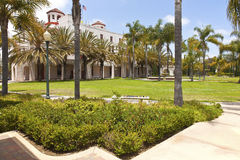 Balboa park state building and garden. Royalty Free Stock Photography