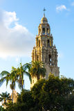 Balboa Park Tower. The Museum of Man tower in Balboa Park, San Diego, California royalty free stock photo