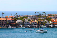 Balboa Peninsula Homes Stock Photo