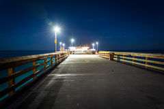 The Balboa Pier at night  Stock Photography