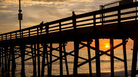 Balboa Pier Sunset Stock Image