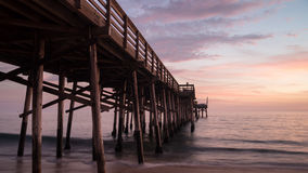 Balboa Pier Sunset Stock Photography