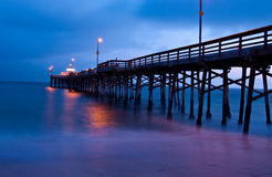 balboa plażowy California Newport mola zmierzch Obraz Royalty Free
