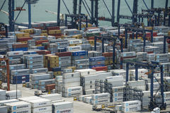 Balboa port container terminal Stock Image