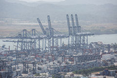 Balboa port container terminal. Panama, Central America royalty free stock photo